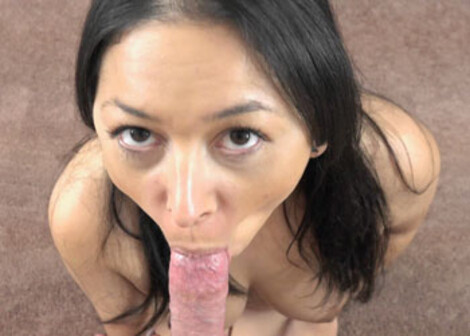 Stephanie Saint swallows a hard dick